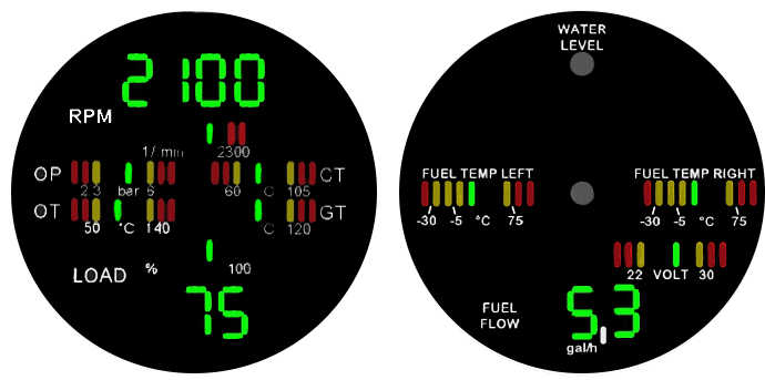 RedHawk Aircraft Engine Gauges